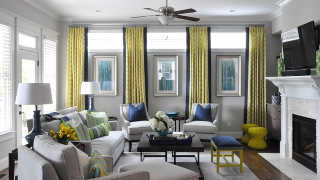 Living Room  Atlanta Interior Designer Decorator Full
