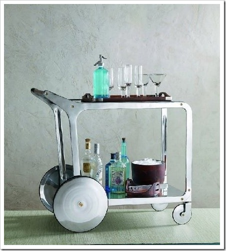 Bar Cart with Seltzer Bottle