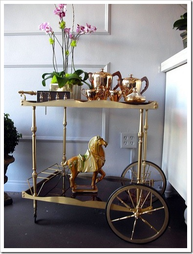 Bar Cart with Tea