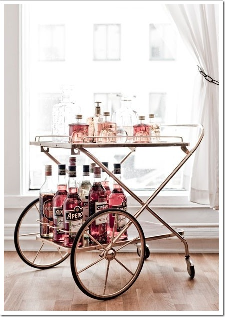 Color Coded Bar Cart
