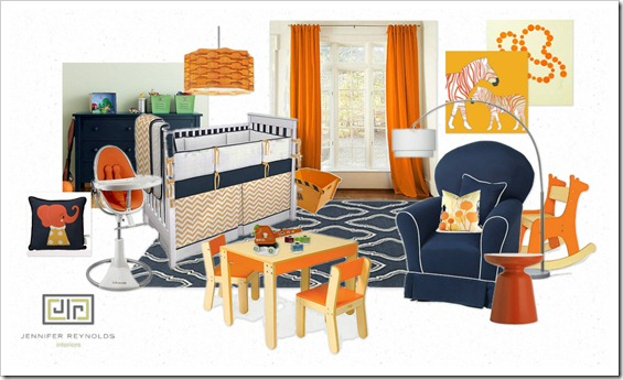 OB-Navy and Orange Nursery