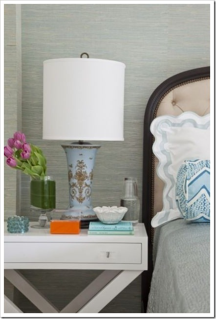 Nightstand with water carafe