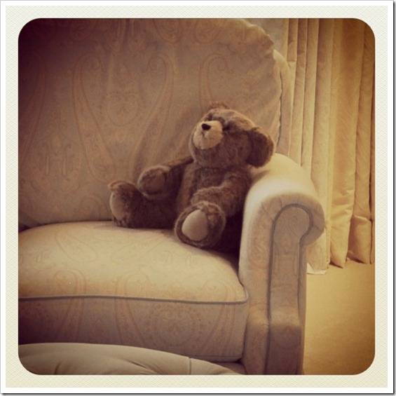 Boy Room Nursery Swivel Glider Chair Detail