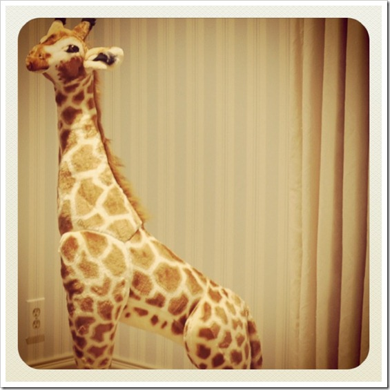 Boy Room Nursery Stuffed Giraffe