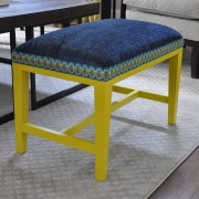 Custom Upholstered Living Room Bench