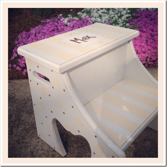 Boy Nursery Step Stool