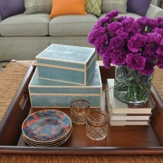Guest Cottage Cocktail Table Styling