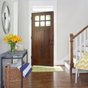 Yellow and Blue Foyer Front Door